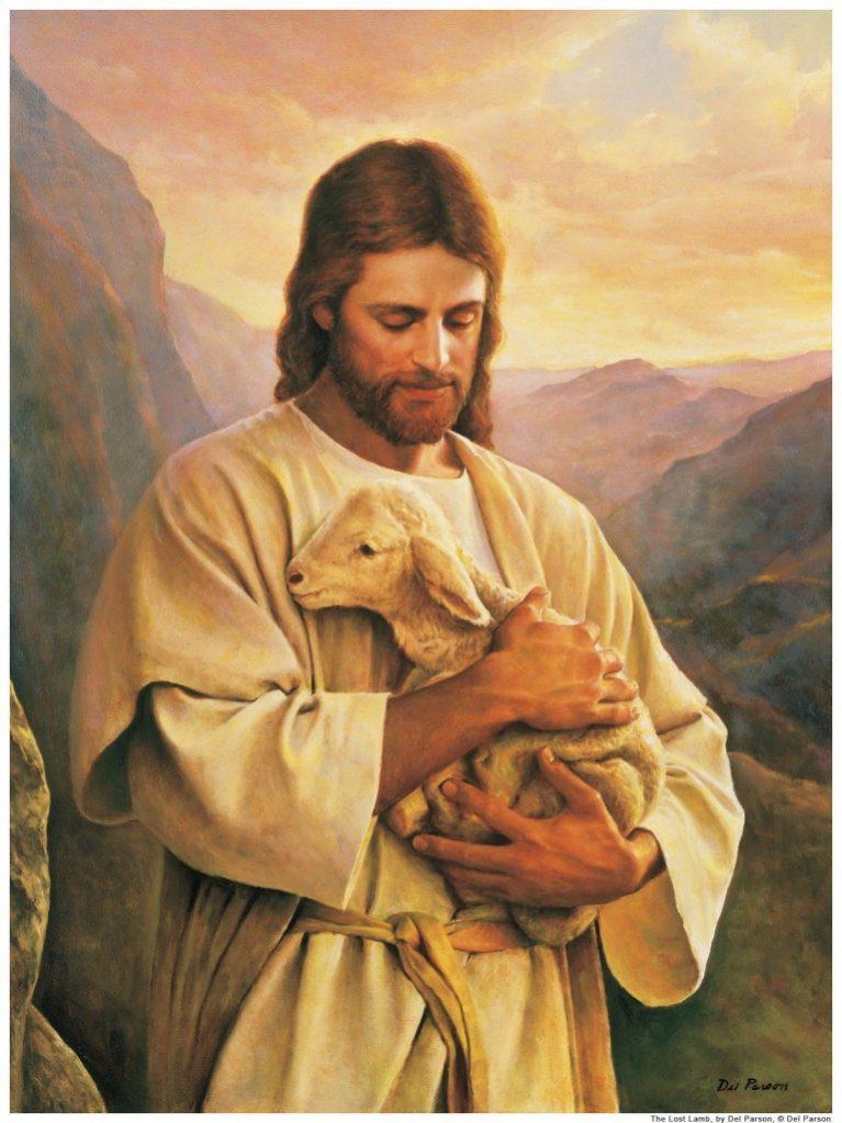 Jesus Carrying Sheep