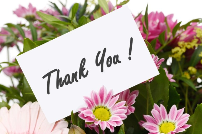 Thank You Flowers – Be Inspirational