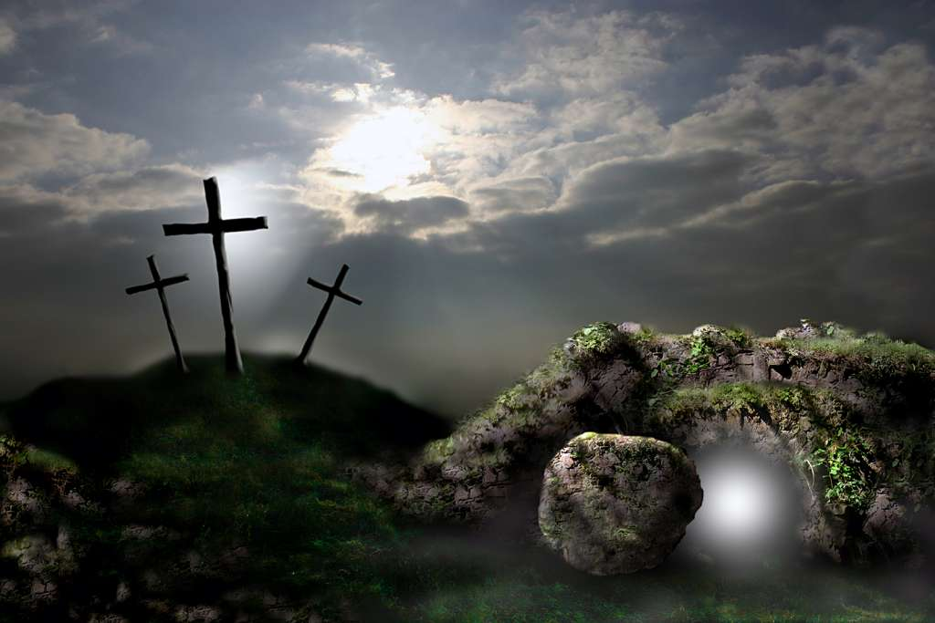 KS2 Death and New Life – Be Inspirational Empty Cross Painting